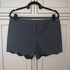 {Kenar} NWT Polka Dot Scalloped Shorts